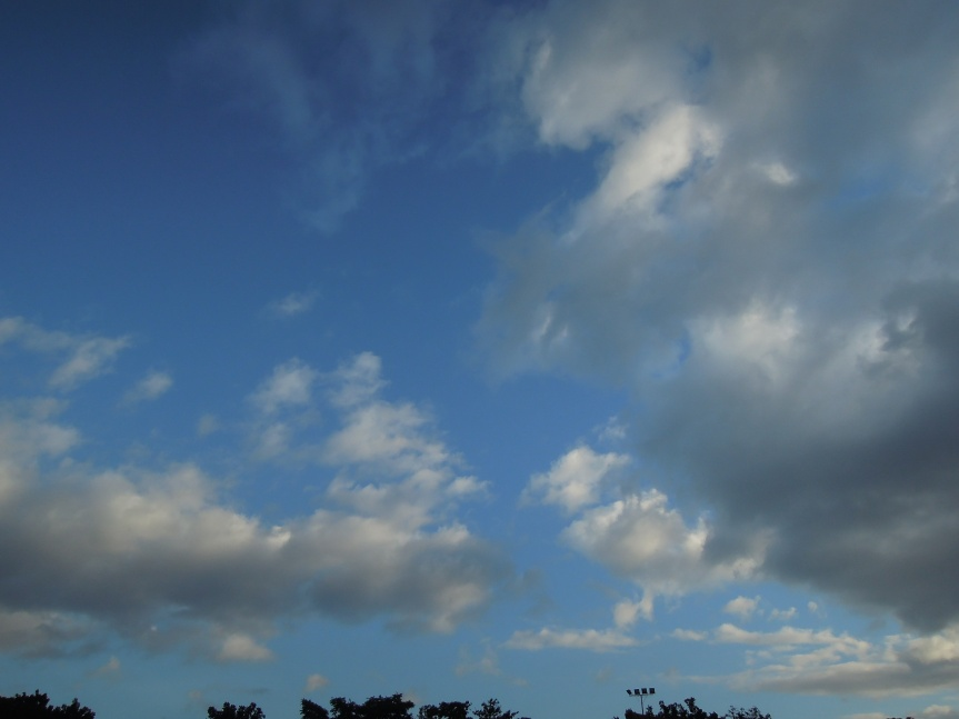 The afternoon sky..