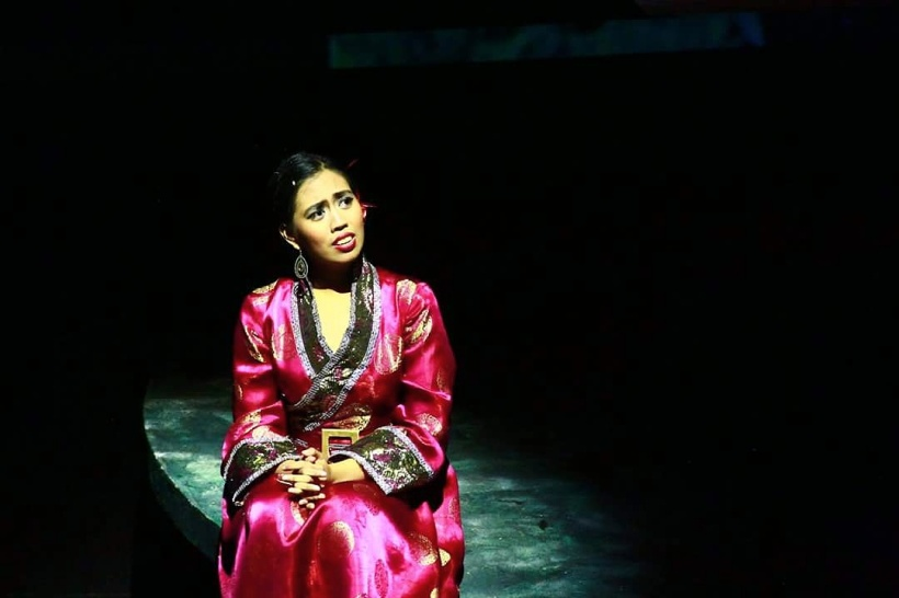 """Melisa Camba as Princess Toragana in """"Marco Polo: An Untold Love Story"""" at the Shaw Theatre in London, August 2016"""
